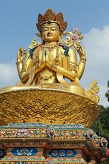 Giant gold  sculpture of Shiva in Kathmandu, Nepal