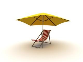 Liege mit Sonnenschirm