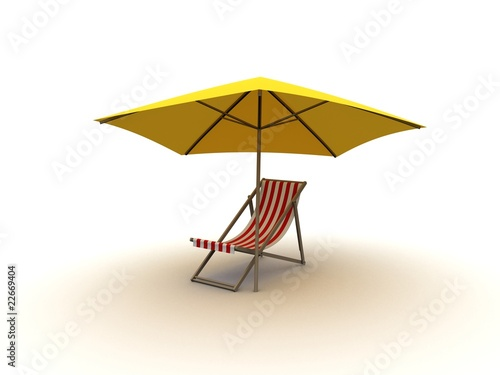liege mit sonnenschirm stockfotos und lizenzfreie bilder auf bild 22669404. Black Bedroom Furniture Sets. Home Design Ideas