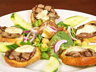 Grilled Filet Mignon on Toast