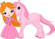 Fototapeten,princess,cartoons,einhorn,mittelalterliches