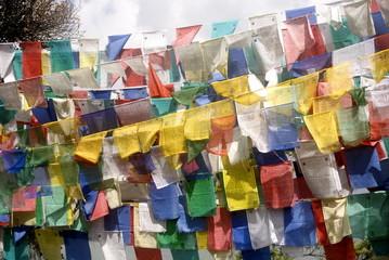 Prayer flags, Taktshang Goemba, Bhutan