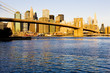 Manhattan with Brooklyn Bridge, New York City, USA