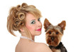 Portrait mit Hund
