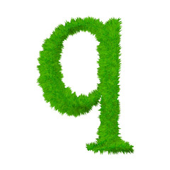 High resolution grass font isolated on white