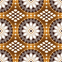 Seamless classic lacing pattern in black coffee colors