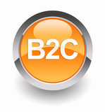 'B2C - Business to Consumer' glossy icon poster
