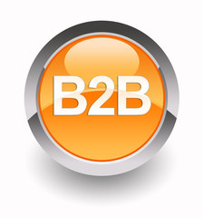 ''B2B - Business to Business'' glossy icon