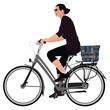 Biking lady