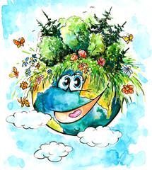 Happy green Earth.