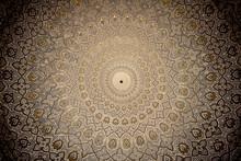"Постер, картина, фотообои ""Dome of the mosque, oriental ornaments from Samarkand, Uzbekista"""