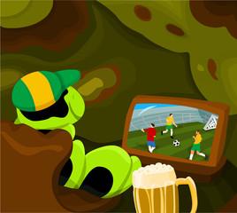 Soccer world cup - Caterpillar fan