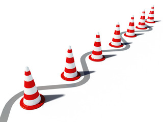 traffic cones 3d cg