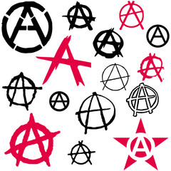 Set of Anarchy symbol icon vector illustration