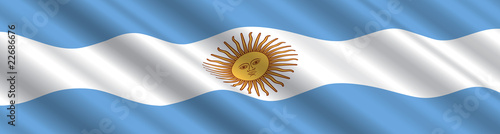 Argentinian Flag in the Wind