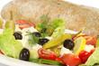 Griechischer Salat mit Brot