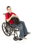 Disabled Teen Boy - Serious poster
