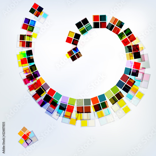 Abstract business background with spirals