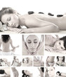 A spa collage of different female treatment images