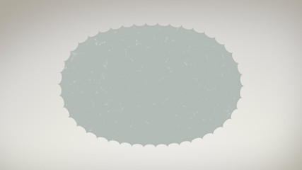 Oval Paper Title Card with Alpha Matte