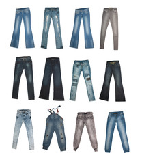 collection of various types of jeans