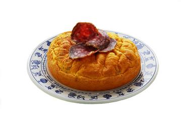 Frittata con il salame - Antipasti Lombardia