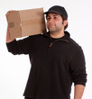 Young Man carrying a box
