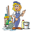 Service Cleaner Girl