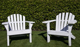 Close up of Adirondack chairs