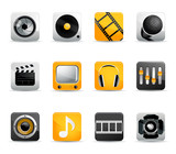 set of vector movie and sound icons