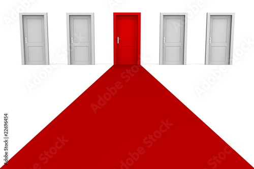 Five Doors and a Red Carpet - Red