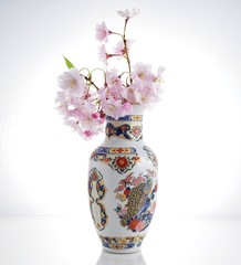 blooming tree branch in a vase