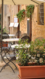 Empty Chairs at the Cafe-