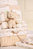 Baby gift basket, also available in horizontal.