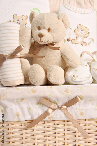 Baby gift basket. Also available in horizontal.