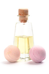 spa oil and bath balls