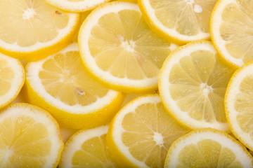 Sliced lemons Close-Up