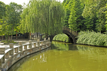 Picturesque canal scene in central China