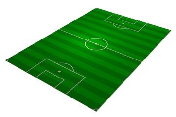 Soccer field angled