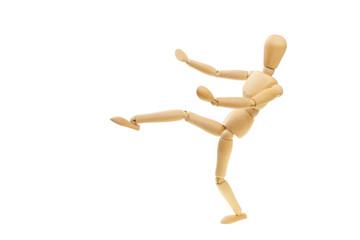Kicking mannequin