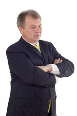 Pensive mature businessman