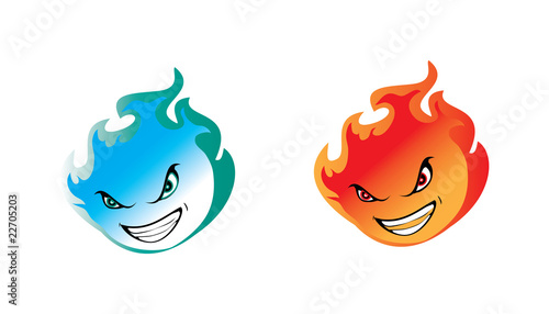 Blue abd red flame
