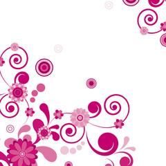 Vector. Pink flower. Floral background.