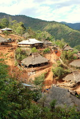 Hill Tribe Village Burma