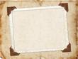 canvas print picture - Framework for invitation or congratulation