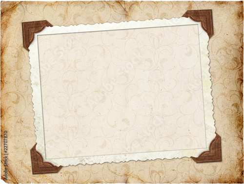 Canvas Retro Framework for invitation or congratulation