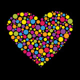 heart made from color circles - 22708254