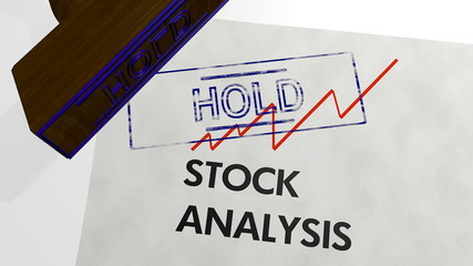 stock analysis - hold shares - 3d animation