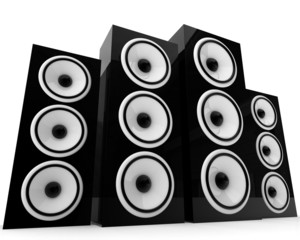 speakers - isolated on white background