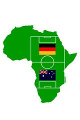Fußballmatch Afrika